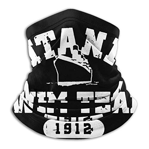 Titanic Swimming Team Sports History Navy Neck Warmer Gaiter Scarf Neck Headdress Cold Weather Windproof scarf Turban