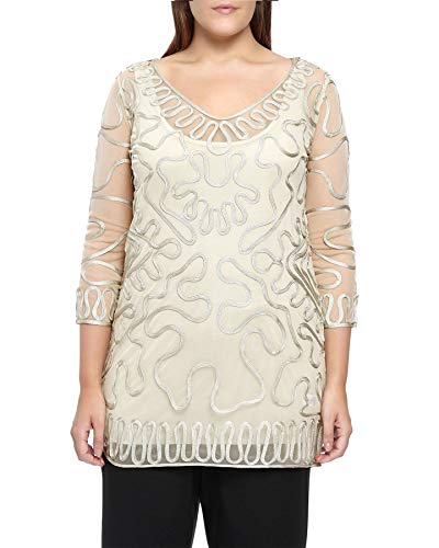 Windsmoor Oyster Tapework Layered Tunic Top Size 12