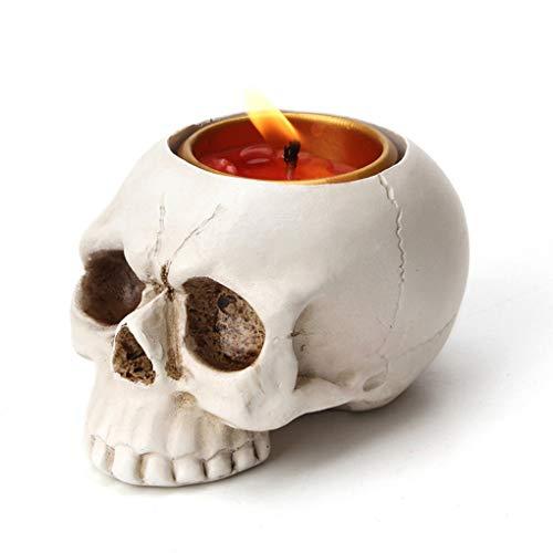 1 PCS Skeleton Skull Candlestick Holder Halloween Home Party Decorative Resin Skeleton Candle Holder...