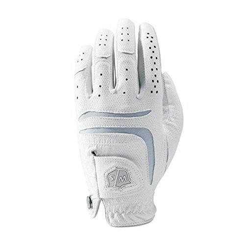 Wilson Golf WGJA00101M Gants de Golf Femme, Blanc, Moyen