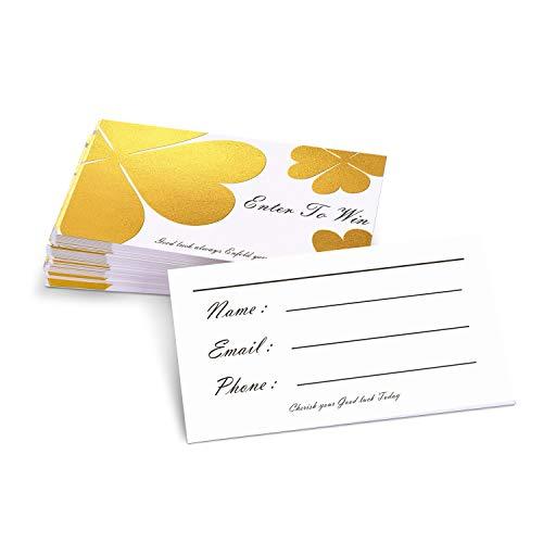 Paperkiddo Eintrittskarten, 50 Stück, Goldfoliendruck, blanko, Zeichenkarten, Eintrittskarten, Karten, für Wettbewerbe, Rafflebedarf, 9,5 x 5 cm 9.5x5cm / 3.8x2