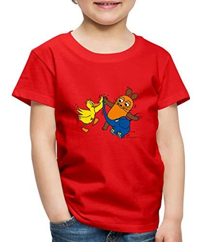 Sendung Mit Der Maus Tanzt Mit Elefant Und Ente Kinder Premium T-Shirt, 110-116, Rot
