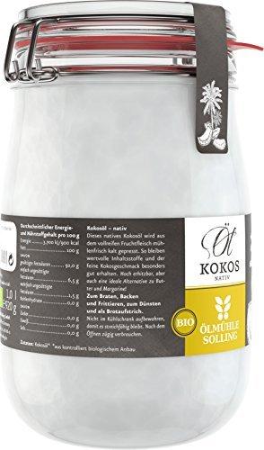 Ölmühle Solling Bio Kokosöl im Bügel-Glas 1000ml - 3