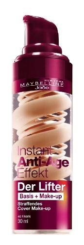 Maybelline New York Instant Anti-Age Der Lifter - 2in1 Basis + Make-Up 40 Fawn, 30 ml