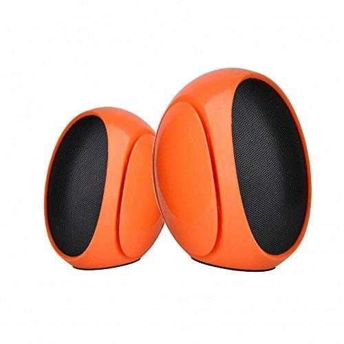 Omega altavoces pc 2.0 3w rms usb naranja