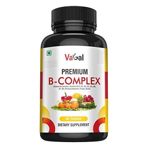Vagal B-Complex Vitamins - All B Vitamins Including B12, B1, B2, B3, B6 with Biotin - Vitamin B Complex Supplement for Energy & Healthy Immune System - 60 Vegetarian Tablets