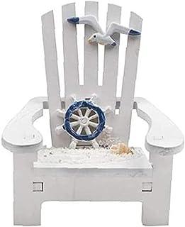 mini beach chair,Asukohu Beach Nautical Miniature Decoration Ornament Small Wooden Beach Chair Model Decorated with Lighth...