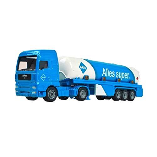 XHAEJ Modelo de automóvil Modelo de fundición de automóvil Ingeniería de vehículos Modelo de vehículo Aleación Coche Niños Simulación Camión camión Juguete Regalo para niños (Color : Blue)