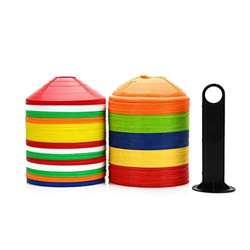 Markierungshütchen Markierungsteller Bulge Set 50Er Inklusive Halter Und Tasche Set Für Sport Fussball Basketball Handball Football