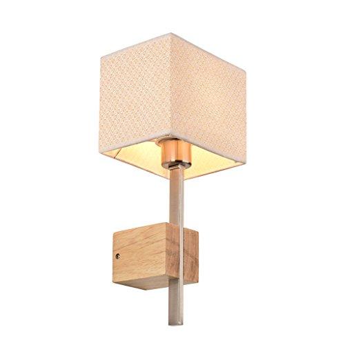 * & Perfect - Applique murale en bois Nordic Creative Living Room Lumière Chambre à coucher Lampadaire Aisle Chinese Solid Wood Wall Light