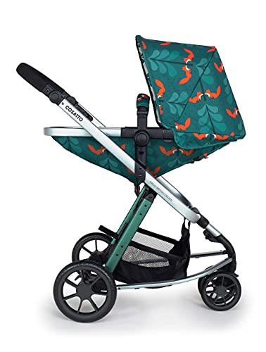 Cosatto Giggle Cochecito, silla de paseo y asiento de bebé 2 en 1 paquete – desde el nacimiento hasta 18 kg, sistema de viaje ligero, Fox Friends
