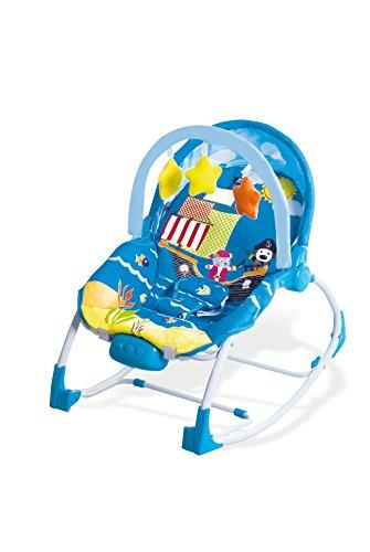 Asalvo Evolutiva - Hamaca para bebé, diseño Aventuras, color azul...