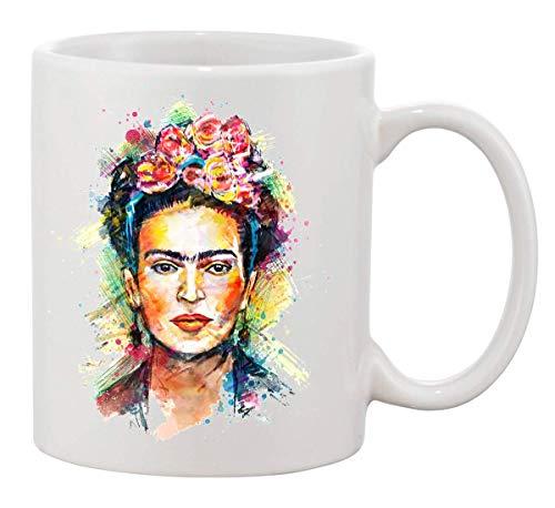 KRISSY Frida Kahlo Painted Face Mug Cup Café Vaso