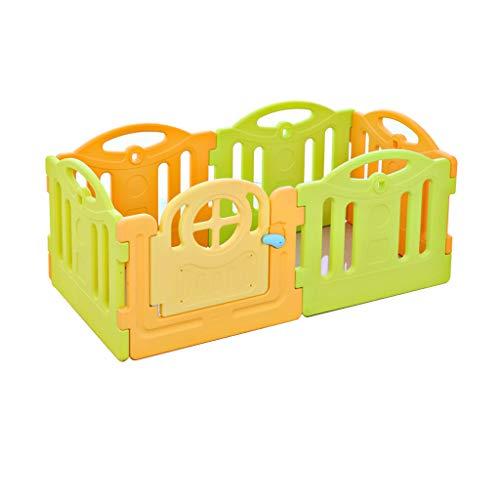 LIUFS-Clôture Jeu de palissade pour Enfants Balayage Simple, Rampe, Apprentissage, Ramper (Couleur : Green Yellow, Taille : 6 Pieces)