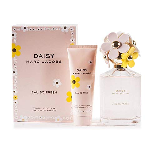 Marc Jacobs Daisy Eau So Fresh 2-Piece Fragrance Gift Set (Eau de Toilette Spray, 4.2 Ounce and Body Lotion, 2.5 Ounce )