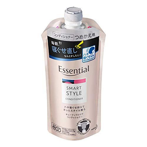 Kao Essential Smart Style Cuticle Care Conditioner Rifill 340ml - Aqua Floral (Green Tea Set)