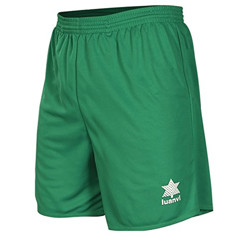 Luanvi Standard Pantalón Corto básico de Deporte, Hombre, Verde, S