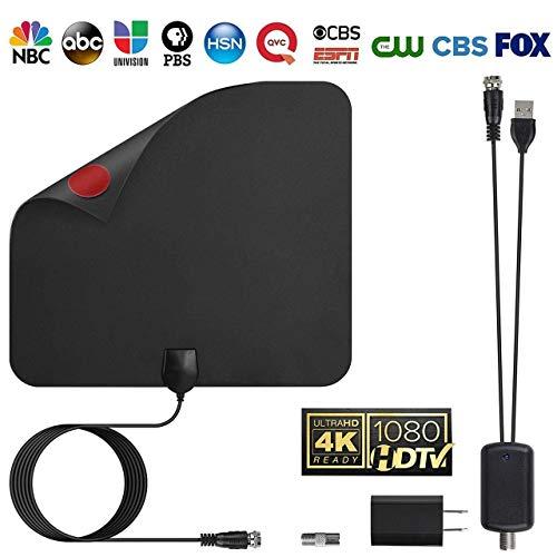 TV Antenna Digital Amplified HDTV Antenna Support 4K Free View 1080P HD TV Antenna Maximum C51