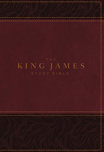 KJV, The King James Study Bible, Leathersoft, Burgundy, Thumb Indexed, Red Letter, Full-Color Edition: Holy Bible, King James Version