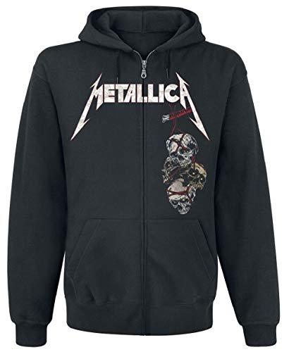 Metallica Death Reaper - Sudadera con Capucha (con Cremallera) Negro XXL