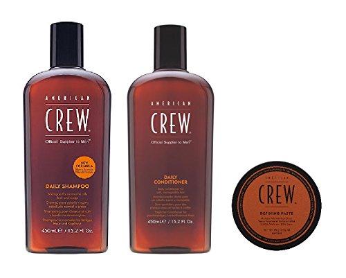 American Crew Daily Shampoo 450 ml, Conditioner 450 ml und Defining Paste 85 g