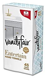 Vanity Fair Impressions Disposable Hand Towels, Paper Hand Towels, 45 Count