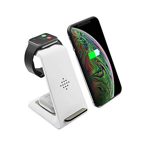 UMEMORY 改良版 ワイヤレス充電器 無線充電器 Qiスマホ機種全対応 急速3 in 1充電器  TYPE-C Apple Watchスタンド  Airpods充電器/Apple Watch充電器 iPhone X/XS/XR/XS Max/8/8 P