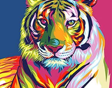 Color León Tigre águila elefante Animal 5D diamante bordado Diy diamante pintura mosaico redondo diamante pintura de pared A4 40x50cm