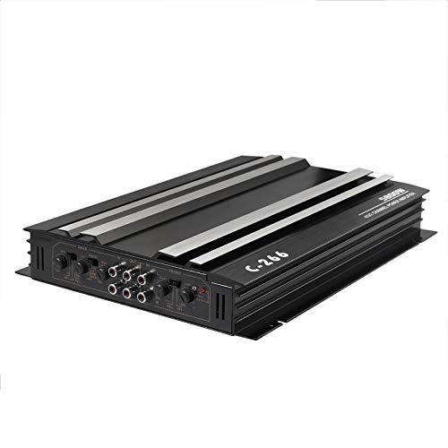 PROZOR Auto Audio Verstärker, 5800W Verstärker mit 4 Kanälen 4 Ohm Car Stereo Audio Power Amplifier, an 4 Lautsprecher oder 2 Lautsprecher + 1 Subwoofer angeschlossen