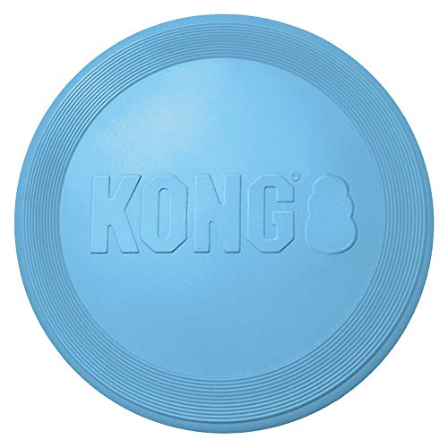 KONG - Puppy Flyer - Teething Rubber, Flying Disc Dog Toy (Assorted Colors) - for Small Puppies