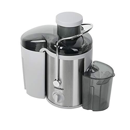 MESKO MS 4126 Entsafter für Obst und Gemüse aus Edelstahl, Saft/Juice Maschine, 65mm breiter Einlass, Saftpresse mit 450ml Saftbehälter, stabile Antirutschuntersetzer, elektrisch