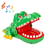iShyan Crocodile Teeth Toys Game for Kids, Crocodile Biting Finger Dentist Games with Sounds Funny Alligator Teeth Game