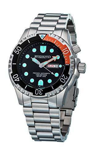 Taucheruhr 100ATM, Stahl- und Silikonarmband - Miyota 2S60 Uhrwerk - Silber/schwarz/Bronze