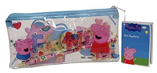 CYP Brands – Astuccio multicolore con materiale scolastico incluso di Peppa Pig