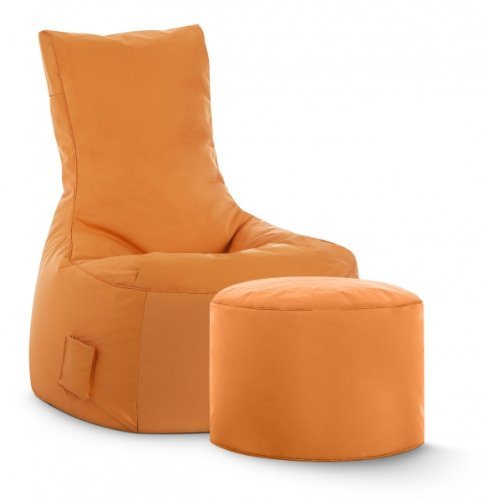 SITTING POINT only by MAGMA Sitzsack-Set Brava Swing + Hocker orange