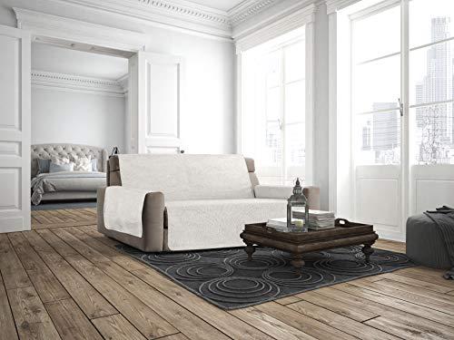 Italian Bed Linen Copridivano Antiscivolo Comfort, Panna, 2 Posti Maxy