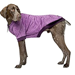Canada Pooch   Hero Dog Hoodie   Pullover Spacedye Dog Sweater Pink Mix Size 18 (17-19″ Back Length)