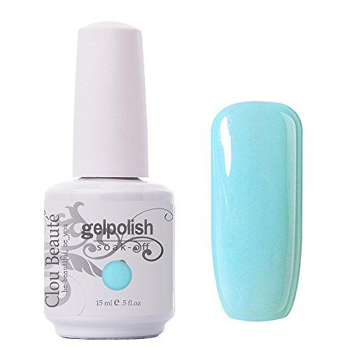 Clou Beaute Gelpolish 15ml Soak Off UV Led Gel Polish Lacquer Nail Art Manicure Varnish Color Light Blue 1341