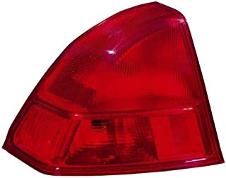 Go-Parts - OE Replacement for 2001 - 2002 Honda Civic Rear Tail Light Lamp Assembly / Lens / Cover - Left (Driver) Side - (4 Door; Sedan) 33551-S5D-A01 HO2800133 Replacement For Honda Civic