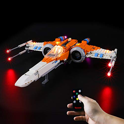 BRIKSMAX Kit de Iluminación Led para Caza ala-X de PoE Dameron,Compatible con Ladrillos de Construcción Lego Modelo 75273, Juego de Legos no Incluido