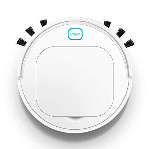 DokFin Robot Aspirador Inteligente, 3 en 1 Robot Aspirador automático y fregasuelos, USB Recargable, para Mascotas, moqueta, alfombras