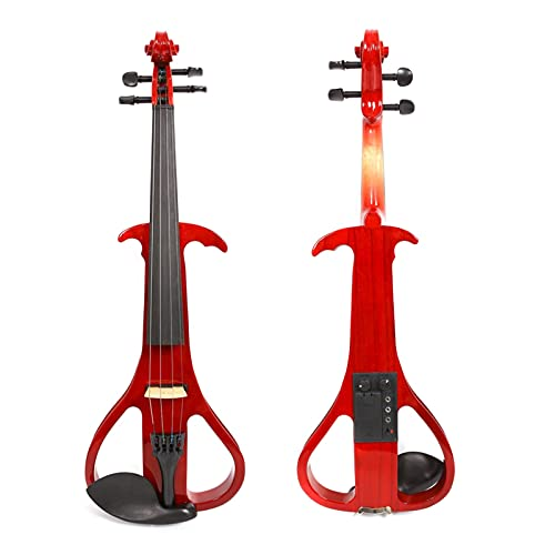 violin Red Electric Silent Violin 4/4 Handmade Xylophone Bow Ros