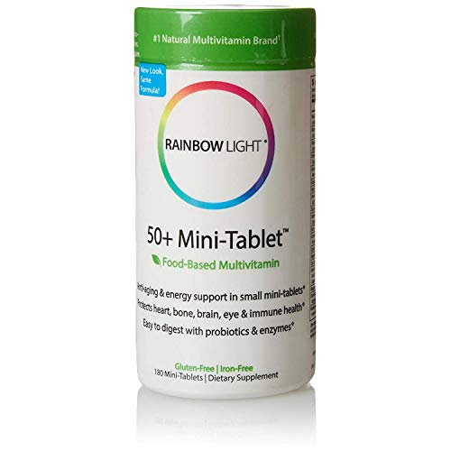 Rainbow Light 50 Plus Mini Tab Age Defense Formula - 180 per Pack - 2...
