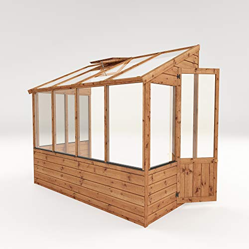 Waltons Wooden Lean-To Greenhouse 4ft x8ft