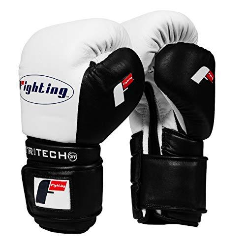 Fighting Sports Tri-Tech Tenacious Training Gloves, White/Black, 16 oz