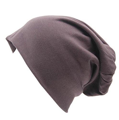 Century Star Unisex Baggy Lightweight Hip-Hop Soft Cotton Slouchy Stretch Beanie Hat Dark Grey