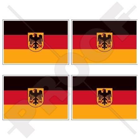 Deutschland Deutsche Marine Fähnrich Marine Flagge 50mm Auto Motorrad Aufkleber X4 Vinyl Stickers Garten