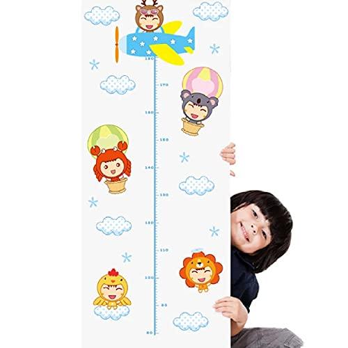 Cajgvavj Etiqueta De La Pared De La Altura Del Bebé De Dibujos Animados Para Niños Habitaciones De Bebés Decoración Del Dormitorio Mural Art Decals Wallpaper Nursery Chart Regla Pegatinas