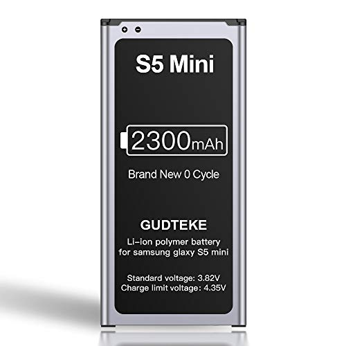 ZMNT 2300mAh Akku für Samsung Galaxy S5 Mini Verbesserter 2300mAh-Lithium-Ionen-Akku Ersatz für Samsung S5 Mini Interner Akku