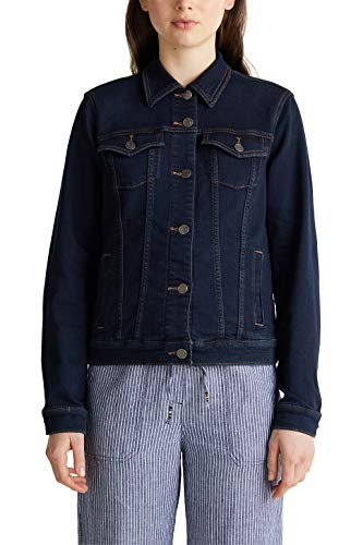 ESPRIT Jeans-Jacke aus softem Jogger-Denim
